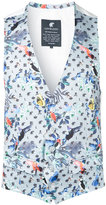 Loveless - birds print gilet - men - Cotton/Polyurethane - 1