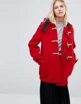 Gloverall Mid Monty Coat in Red