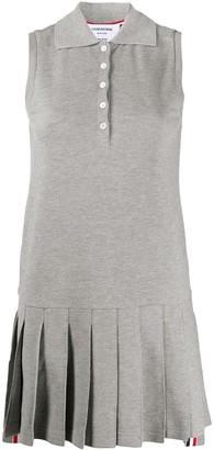 Thom Browne RWB stripe sleeveless pleated tennis dress