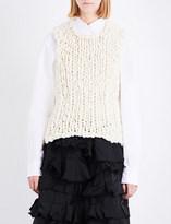 Comme des Garcons Panelled wool-blend top