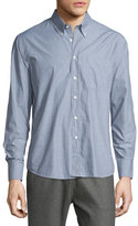 Billy Reid Tuscumbia Printed Long-Sleeve Sport Shirt, Gray