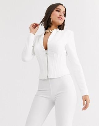 Asos DESIGN corset blazer with boning