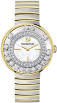 Swarovski Lovely Crystals White / Yellow Gold Tone Watch