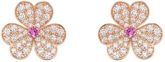 Van Cleef & Arpels Fleurs Pink Pink gold Earrings