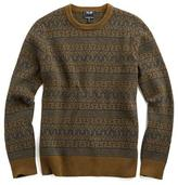 Todd Snyder Wool Fairisle Sweater in Charcoal