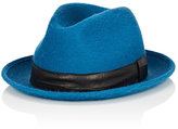 Barbisio Men's Rabbit Fur Felt Fedora