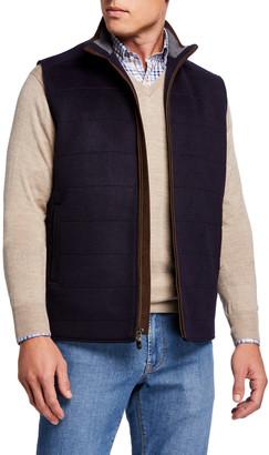 Peter Millar Men's Zip-Front Wool Vest
