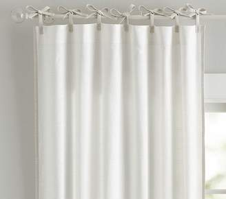 Pottery Barn Kids Breezy Border Non-Blackout Panel: 63 Inches: Gray