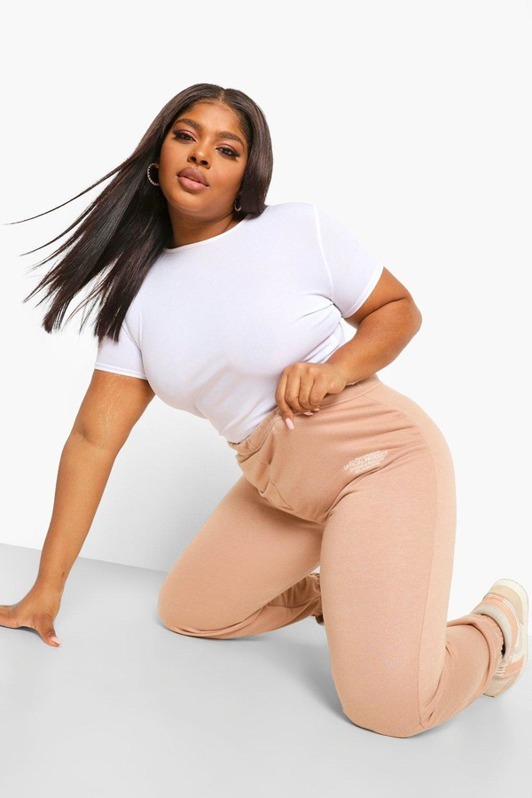 Thumbnail for your product : boohoo Plus Official Embroidered Joggers