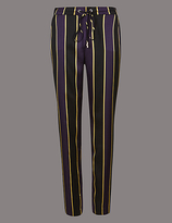 Autograph Striped Tapered Leg Trousers