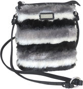 Adrienne Landau Striped Faux Fur Crossbody Bag