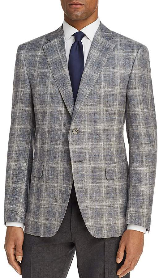 Canali Plaid Slim Fit Sport Coat