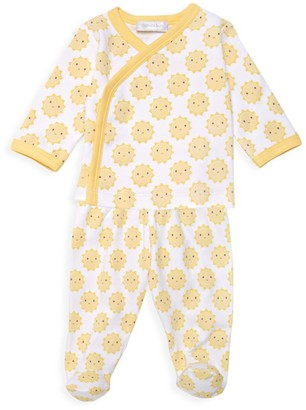 Magnolia Baby Baby's Sunshine-Print Crossover T-Shirt & Footie Pants Set