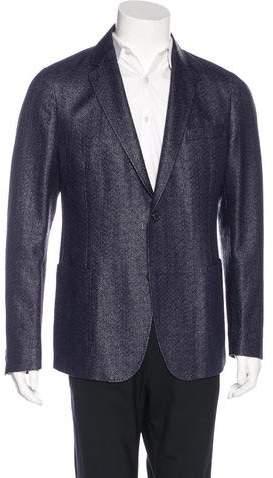 Gucci Raffia Two-Button Sport Coat