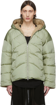 Random Identities Green Duvet Puffer Jacket