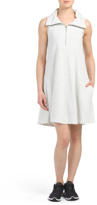 Front Zip Side Pocket Dress