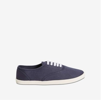 Joe Fresh Women's Lace-Up Canvas Sneakers, JF Midnight Blue (Size 9)