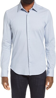 Stone Rose Button-Up Performance Shirt