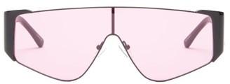 Linda Farrow X The Attico Carlijn Shield Sunglasses - Womens - Black Multi