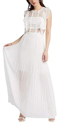 APART Fashion Women's Cream-Nude-Light Peach-Gold-Burgundy Party Dress, White