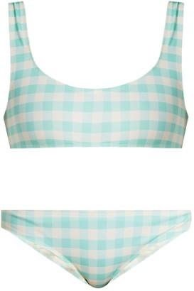 Solid & Striped Blue Cotton - elasthane Swimwear