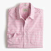 J.Crew Secret Wash shirt in pink gingham