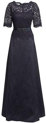 Teri Jon By Rickie Freeman Lace & Taffeta A-Line Gown