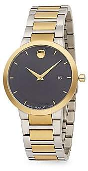 Movado Men's Modern Classic Stainless Steel & PVD Yellow Gold Stainless Steel Bracelet Watch