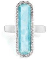 Monica Vinader Naida Diamond & Larimar Cocktail Ring