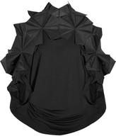 Junya Watanabe Organza-trimmed Stretch-jersey Tunic - Black