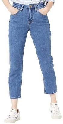 Rock and Roll Cowgirl High-Rise Cropped in Medium Wash WSC9798