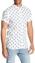 Scotch & Soda Printed Short Sleeve Linen Regular Fit Shirt