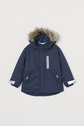 H&M Water-repellent Padded Jacket - Blue