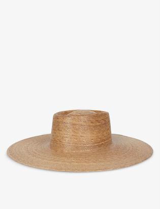 LACK OF COLOR Palma wide-brim palm leaf boater hat