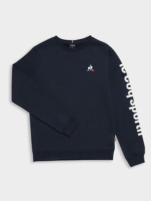 Le Coq Sportif Pierre Pullover Sweater in Navy Blue