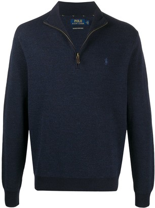 Polo Ralph Lauren Logo Embroidered Half-Zip Jumper