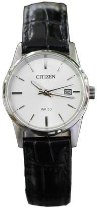 Citizen Womens Analogue Quartz Watch with Leather Strap EU6000-06A