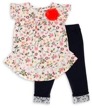Little Lass Little Girl's 2-Piece Top & Pants Set
