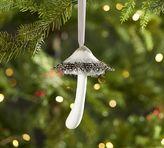Pottery Barn Feather Mushroom Ornament