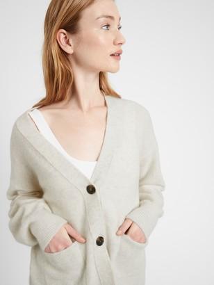 Banana Republic Oversized Blouson-Sleeve Cardigan Sweater