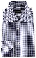 Ermenegildo Zegna Gingham Check Twill Dress Shirt, Navy