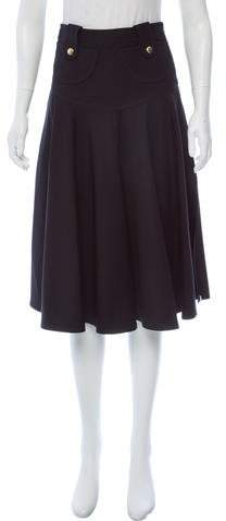 Derek Lam Fluted Knee-Length Skirt w/ Tags