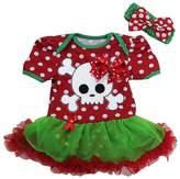 Ameda Baby Polka Dots Skull Pirate Costume Bodysuit Tutu Small