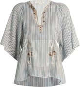 Etoile Isabel Marant Joy embroidered striped cotton top