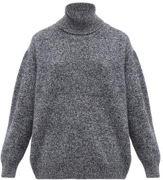 Queene and Belle Charley Marled-lambswool Roll-neck Sweater - Womens - Navy Multi