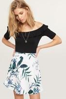 Dynamite Satin Flared Mini Skirt