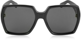 Saint Laurent SL M2 Oversized Black Square-Frame Acetate Women's Sunglasses
