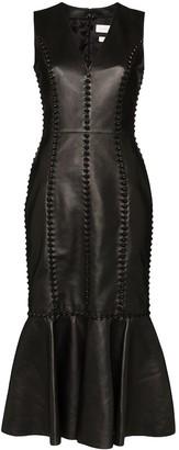 Alexander McQueen Knot Detail Midi Dress