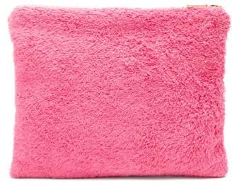Kilometre Paris - Zipped Cotton-terry Pouch - Pink Multi