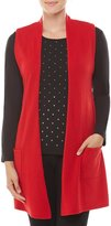 Allison Daley Petites Open Front Sleeveless Cardigan Long Vest
